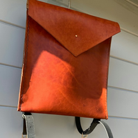 Recycled Saddle Leather Handmade Backpack