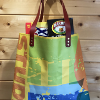 LEXXY : Handmade Tote made from a reclaimed show banner