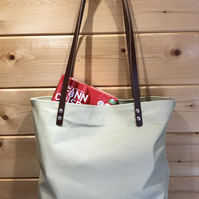 Handmade Recycled Leather Shopper , Tote