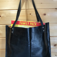 Recycled Ladies Boot Leather Shopper-Tote