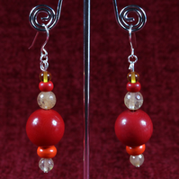 Faceted Reds Earrings.