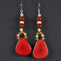 Red Embers Earrings.