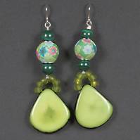 Polymer Green Earrings