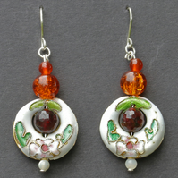 Amber Cloisonne Earrings.