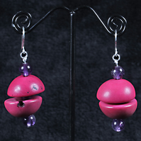 Circular Cerise Earrings.