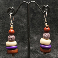 Tiered Tagua Earrings.