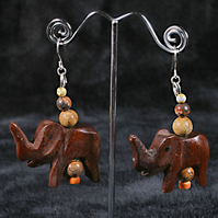 Forest Elephants Earrings.