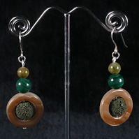 Lava Moss Earrings.