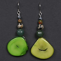 Tagua Green Earrings.