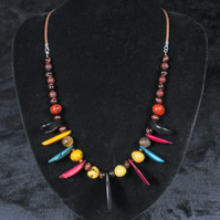 Tiger Tagua Necklace.