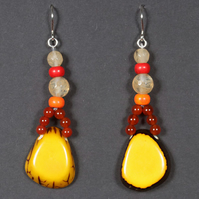 Yellow Embers 2 Earrings.