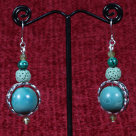 Turquoise Sterling Earrings.