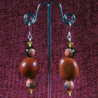 Fire Seed Earrings.