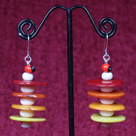 Magnesite Seed Tower Earrings.