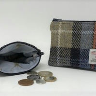 Harris Tweed Coin Purse - HT43 - MacKenzie Tartan Pattern