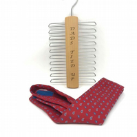 Personalised Tie Organiser Hanger - Holds up to 20 ties