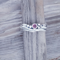 Tiny Wave with Pink Tourmaline size L-T