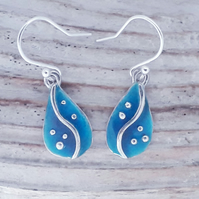 Enamel Pebble Earrings