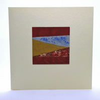 Hand enamelled square card