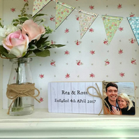 wedding or anniversary personalised photo plaque