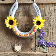 Decorated horseshoe sunflower smile