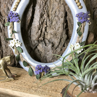Decorated horseshoe purple rustic