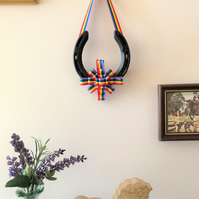 decorated horseshoe rainbow ribbon