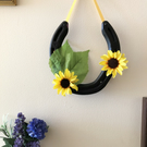 Decorated horseshoe sunflowers