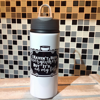 I Haven't Been Everywhere, But It's On My List Water Bottle, Personalised Water