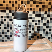 Funny Cow Water Bottle - Deja Moo When You Know You've Heard This, Personalised