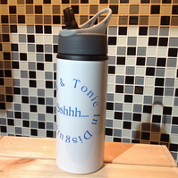 Gin And Tonic In Disguise Water Bottle, Personalised Water Bottle