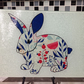 Rabbit Glass Chopping Board, Rabbit Lover Gift, Rabbit Picture, Personalised