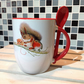 Squirrel and Robin Mug & Spoon Set, ideal for Hot Chocolate Mug