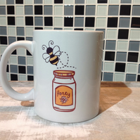Bee Ceramic Mug - Honey Bee, Coffee Mug, Tea Mug