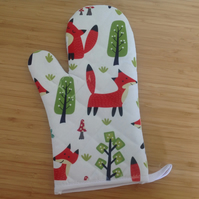 Fox Print Oven Mitts, Fox Printed Oven Gloves