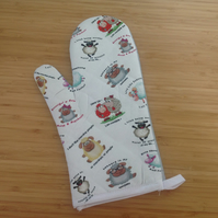 Sheep Print Oven Mitts, Sheep Printed Oven Gloves