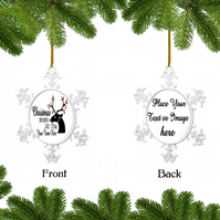 Personalised Christmas Bauble Snowflake - Christmas 2020 At The.., Custom Bauble