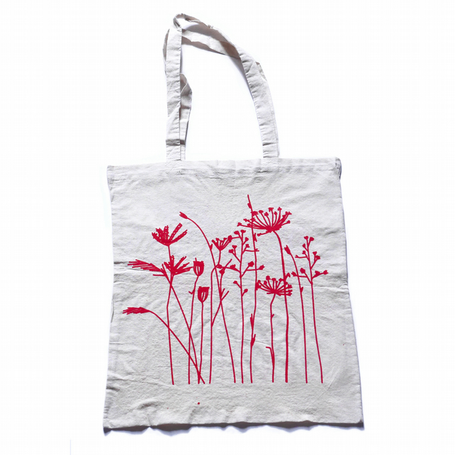 Dry Plants on Natural Colour tote bag