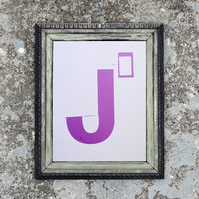Letter J' - limited edition screen print