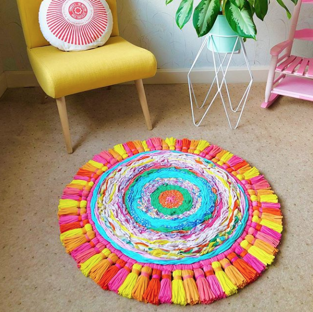 Bright And Bold Colourful Woven Rug By