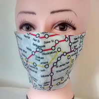 Handmade 3 layers underground reusable adult face mask.