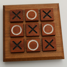 Handmade - Hardwood Noughts and Crosses - Executive table game