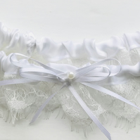 ANAIS Eyelash Lace  and Satin Garter