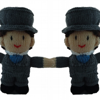 Hand-knitted Groom and Groom, Collectable Dolls - Wedding or Anniversary gifts