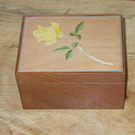 Yellow Rose Mahogany Box
