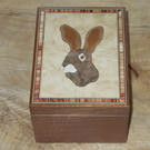 Rabbit Walnut Box
