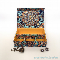 Celeste Mandala Handmade Fabric Covered Organiser