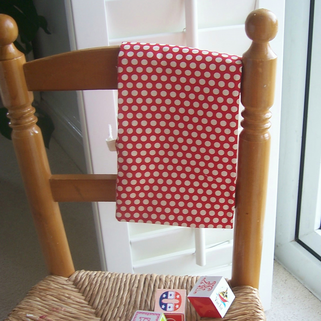 Toy or Shoe Bag - Red Polka Dot Print