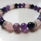 Healing bracelet for loss made with lovely 8mm gemstones. Infused with Reiki.