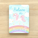 'Believe in Yourself' Unicorn Hand Embellished Art Print